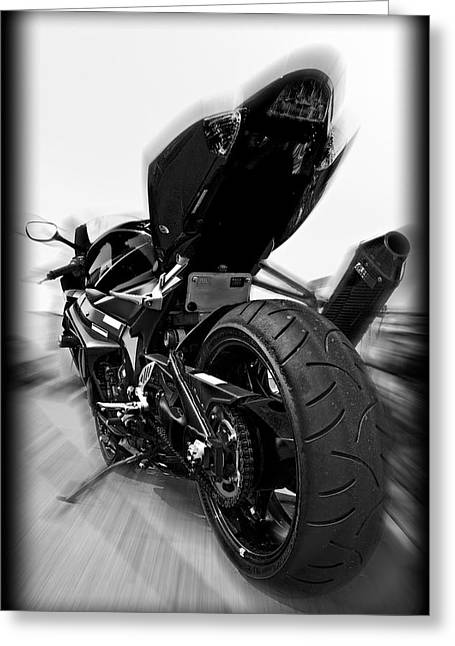 Zoomed Gsxr Greeting Card by Ricky Barnard
