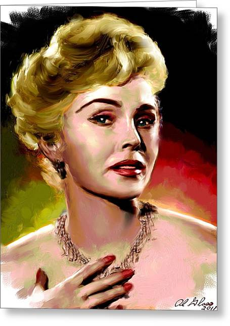 Star Greeting Cards - Zsa Zsa Gabor Greeting Card by Allen Glass