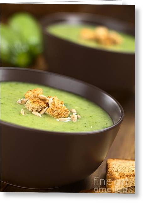 Wholewheat Greeting Cards - Zucchini Cream Soup Greeting Card by Ildi Papp