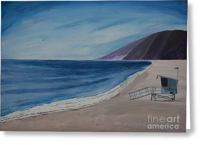 Stellar Paintings Greeting Cards - Zuma Lifeguard Tower #5 Greeting Card by Ian Donley