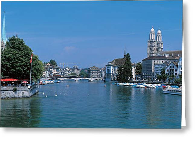 Zurich Switzerland Greeting Card by Panoramic Images