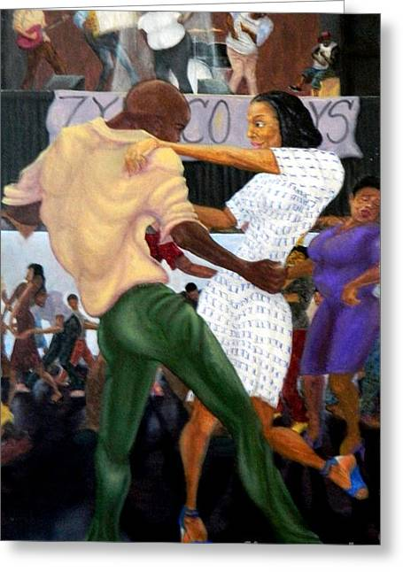 Zydeco Greeting Cards - Zydeco TwoStep Greeting Card by Clifford Etienne