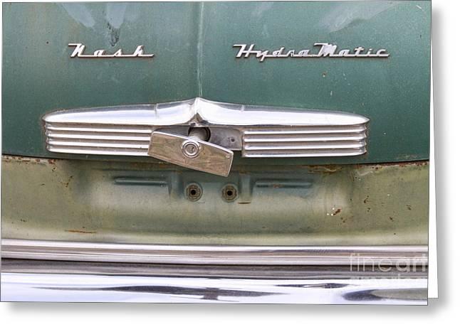 1951 Greeting Cards -  1951 Nash Ambassador Hydramatic Back Greeting Card by James BO  Insogna