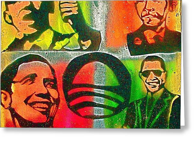 4 Barack  Greeting Card by Tony B Conscious