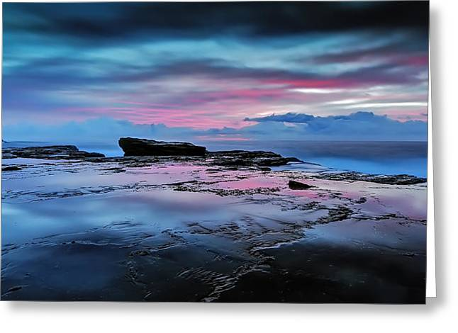 Seascape With Clouds Greeting Cards -  A Sea of Desire  Greeting Card by Mark Lucey