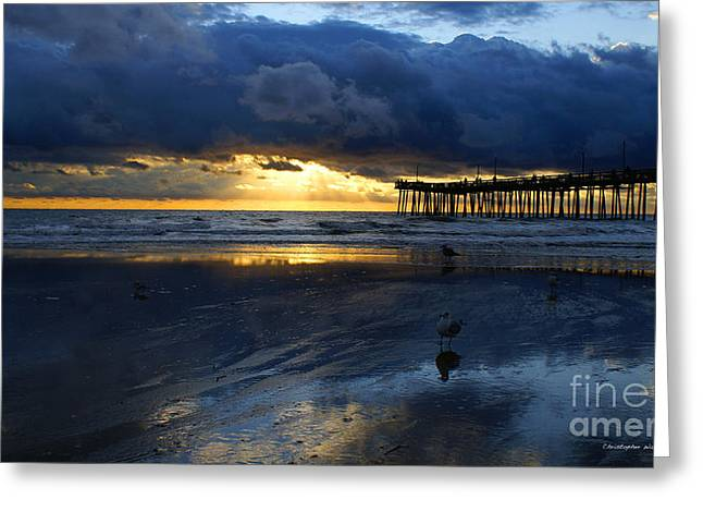Beach Photographs Greeting Cards -  After The Storm   Greeting Card by Christopher  Ward