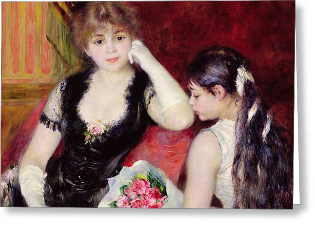 At the Concert Greeting Card by Pierre Auguste Renoir