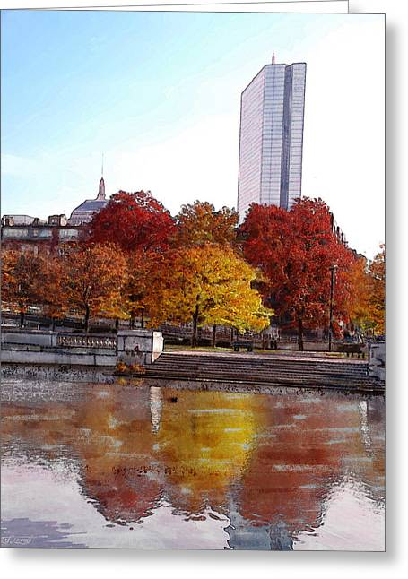 Back Bay Colors Greeting Card by Carl Licence