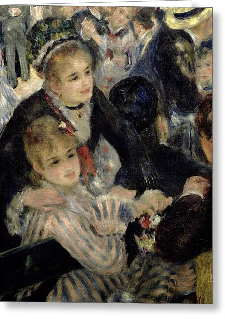 The Ball Greeting Cards -  Ball at the Moulin de la Galette Greeting Card by Pierre Auguste Renoir