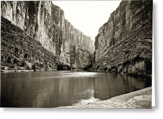 Canvas Wrap Greeting Cards -  Big Bend National Park and Rio Grand River Greeting Card by M K  Miller