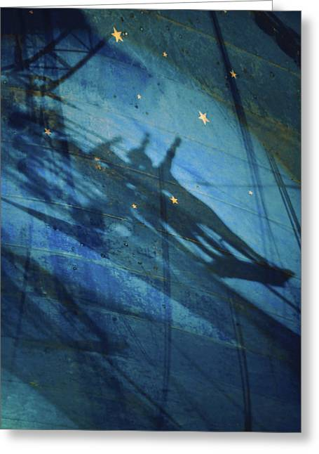 Acrobat Image Greeting Cards -  Big Top Acrobats Shadow Bow Greeting Card by Tommy  Urbans