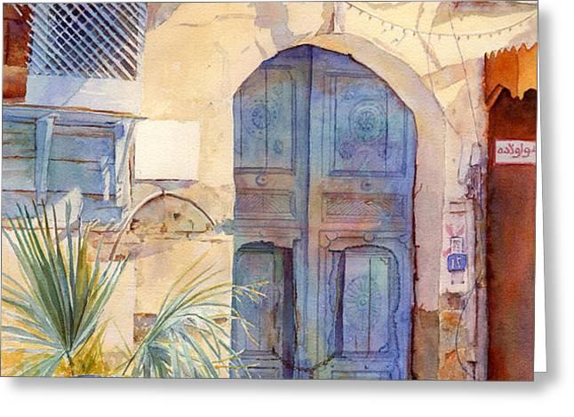 Blue Door  Greeting Card by Dorothy Boyer