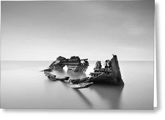 Lifeless Greeting Cards -  Boat Out Of Order Greeting Card by Teerapat Pattanasoponpong