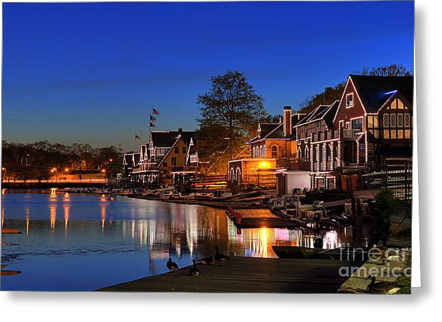 Picturesque Greeting Cards -  Boathouse Row  Greeting Card by John Greim