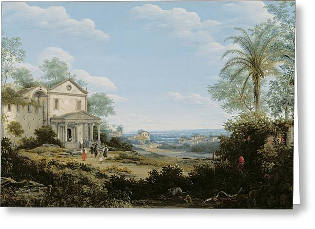 Fran Greeting Cards -  Brazilian Landscape Greeting Card by Frans Jansz Post
