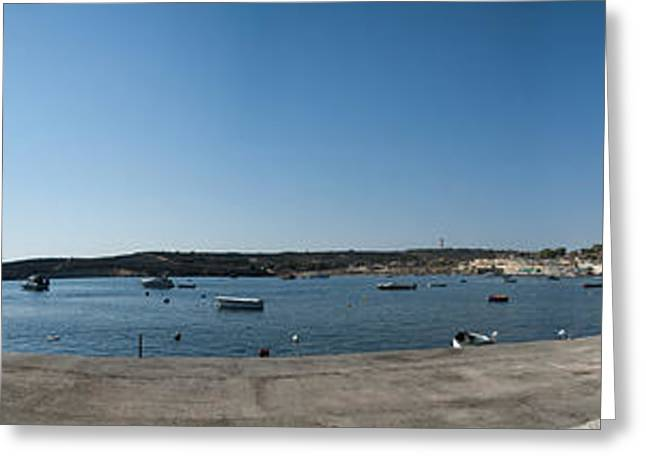 Maltese Greeting Cards -  Bugibba harbour Malta Greeting Card by Guy Viner
