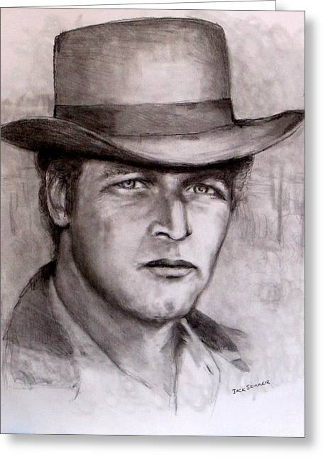 Recently Sold -  - Jack Skinner Drawings Greeting Cards -  Butch Cassidy Greeting Card by Jack Skinner