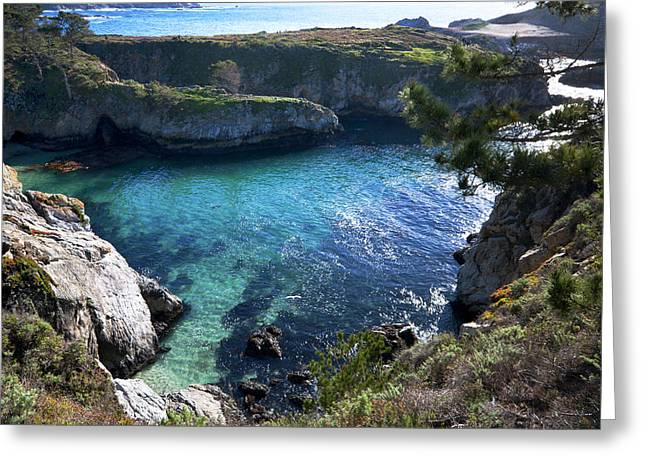 Point Lobos State Greeting Cards -  China Cove Greeting Card by Mike Herdering