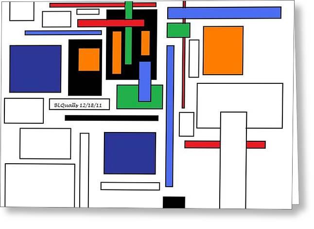 B L Qualls Greeting Cards -  CITY Colors 3 Greeting Card by B L Qualls