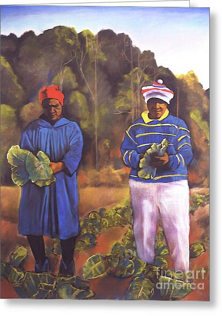 I Pastels Greeting Cards -  Collard Greens I Greeting Card by Curtis James