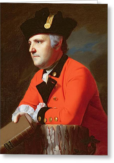 Pensive Greeting Cards -  Colonel John Montresor  Greeting Card by John Singleton Copley