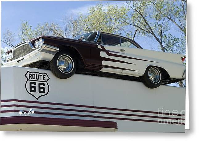 Truck Detail Greeting Cards - Route 66 De Soto  Greeting Card by Bob Christopher