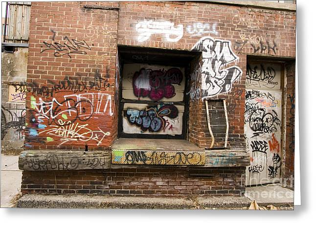 Vandalize Photographs Greeting Cards -  downtown Toronto  Greeting Card by Igor Kislev