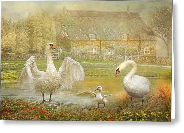 Thatch Digital Greeting Cards -  Early Preparations Greeting Card by Trudi Simmonds