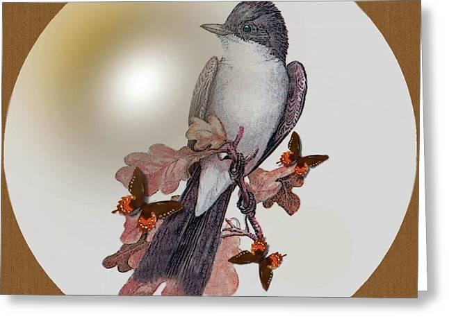 Eastern Kingbird Greeting Card by Madeline  Allen - SmudgeArt