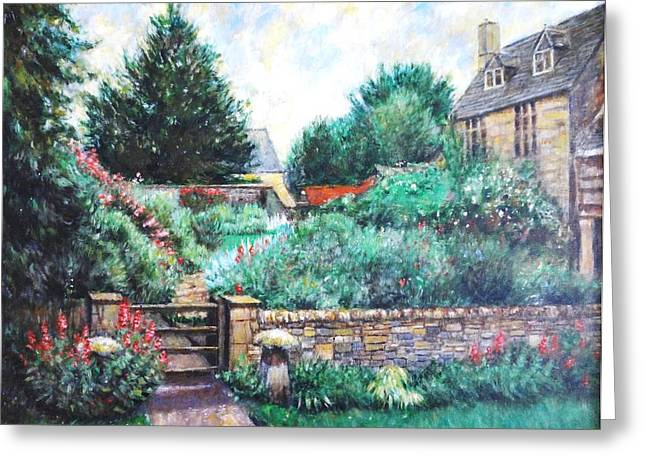 Stepping Stones Drawings Greeting Cards -   English Country Home 1 Greeting Card by    Armand  Storace