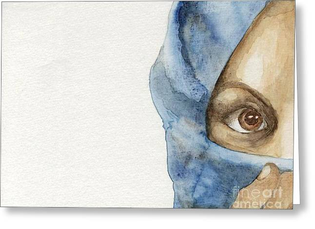 Purim Paintings Greeting Cards -  Esther Greeting Card by Annemeet Van der Leij