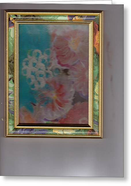 Fantasy Floral In Frame  Greeting Card by Anne-Elizabeth Whiteway