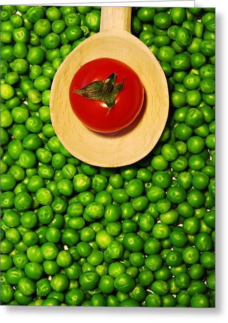 Food Pyrography Greeting Cards -  Fresh Greeting Card by Alexandra-Flaminia Boc