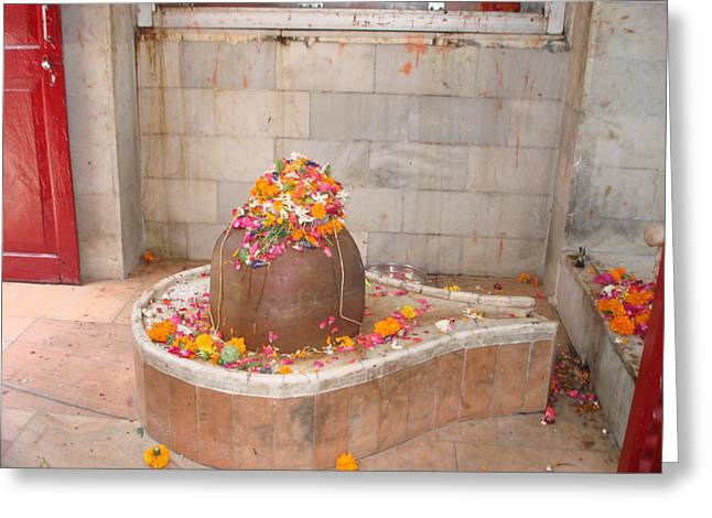 Lingam Greeting Cards -  Haridwar Lingam India Greeting Card by Sonya Ki Tomlinson