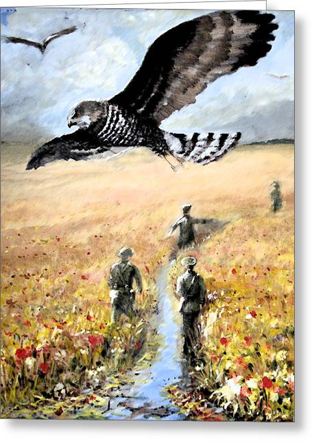 Stream Greeting Cards -  Hawk vision Greeting Card by Graham Keith