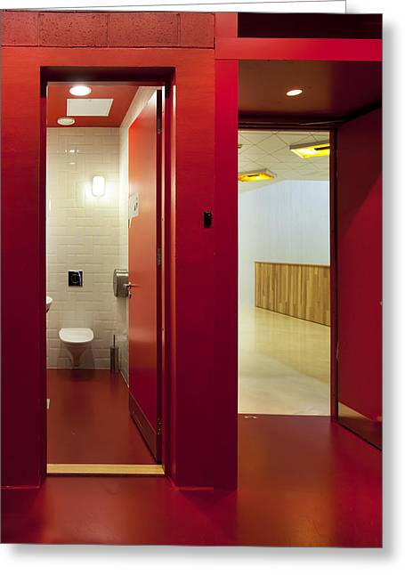Public Restroom Greeting Cards -  Healthcare College Health Care Greeting Card by Jaak Nilson