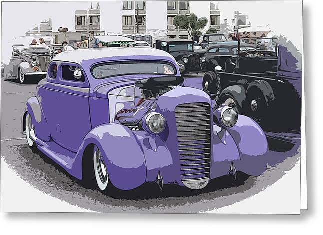 Recently Sold -  - 1949 Plymouth Greeting Cards -  Hot Rod Purple Greeting Card by Steve McKinzie