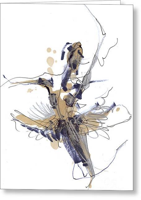 Tchaikovsky Greeting Cards -   Imaginary Dance Or Swan Lake Greeting Card by Lousine Hogtanian