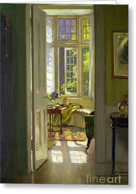Looking Out Side Greeting Cards -  Interior Morning  Greeting Card by Patrick Williams Adam