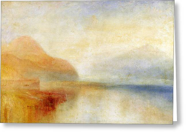 Seascape Paintings Greeting Cards -  Inverary Pier - Loch Fyne - Morning Greeting Card by Joseph Mallord William Turner