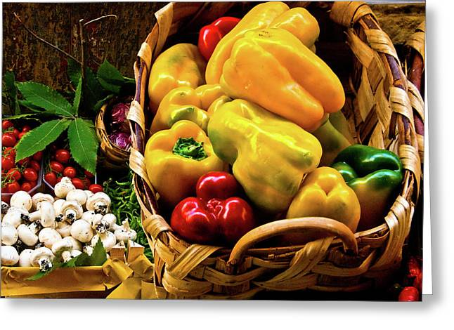 Fruit Print Greeting Cards -  Italian Peppers  Greeting Card by Harry Spitz