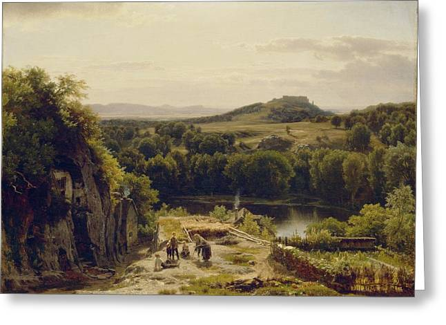 Landscape In The Harz Mountains Greeting Card by Thomas Worthington Whittredge
