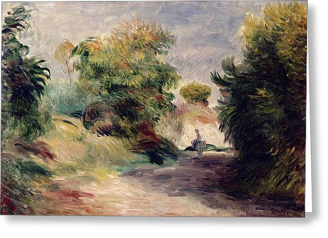 Provence Greeting Cards -  Landscape near Cagnes Greeting Card by Pierre Auguste Renoir