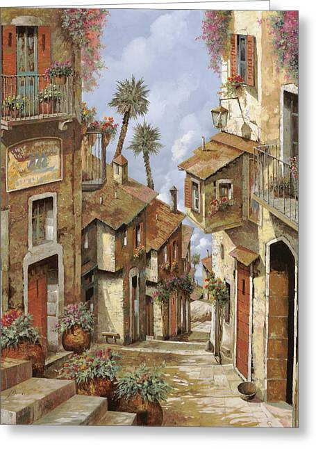 Roof Greeting Cards -  Le Palme Sul Tetto Greeting Card by Guido Borelli