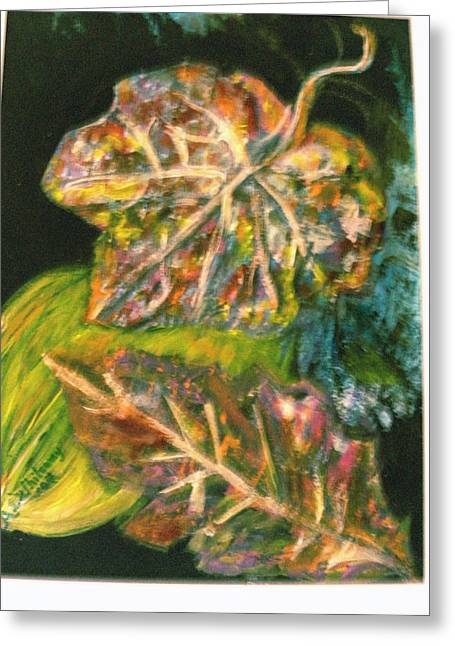 Leaves From My Imagination Greeting Card by Anne-Elizabeth Whiteway
