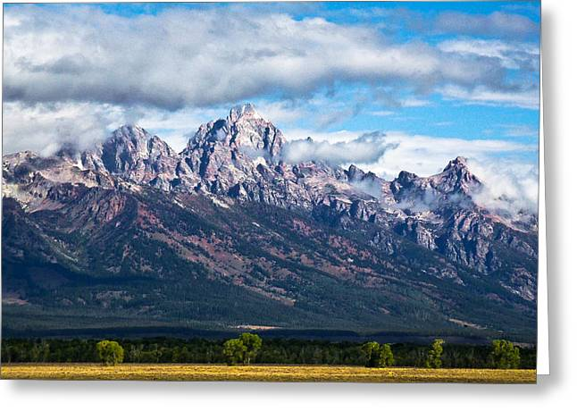 David Patterson Greeting Cards -  Light on the Grand Tetons Greeting Card by David Patterson