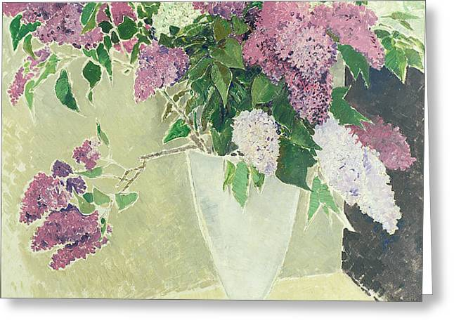 Lilacs Greeting Card by Glyn Warren Philpot