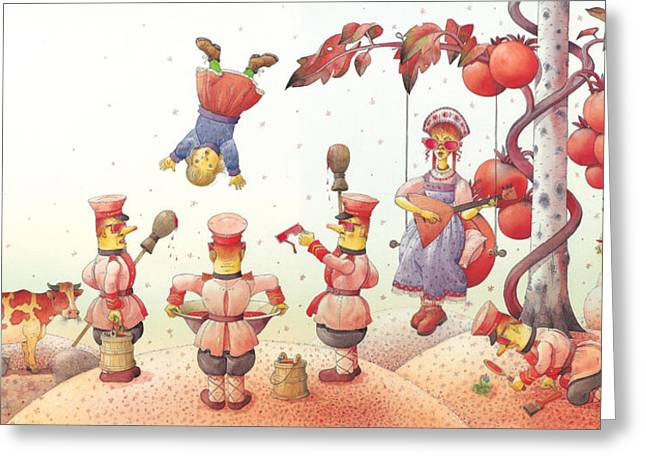 Reds Drawings Greeting Cards -  Lisas Journey09 Greeting Card by Kestutis Kasparavicius