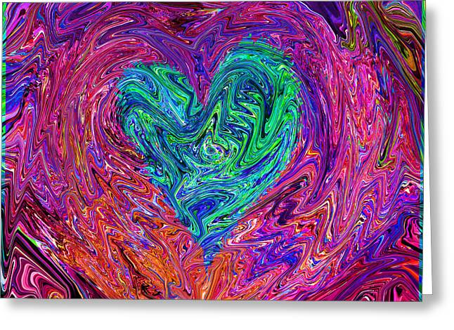 Substantial Greeting Cards -  Love From The Ripple Of Thought  V 3  Greeting Card by Kenneth James