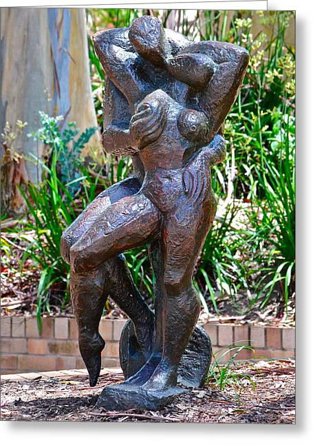 Figurative Sculpture Greeting Cards -  Lovers Greeting Card by Dorota Nowak